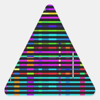 Re-Created Urban Landscape Triangle Sticker