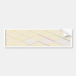 Re-Created Vertices Car Bumper Sticker