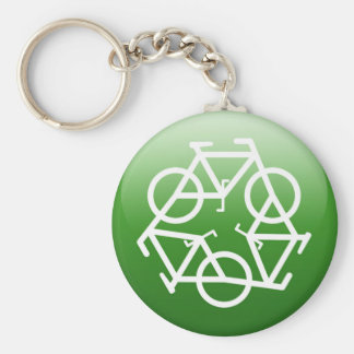 Re CYCLE Basic Round Button Keychain