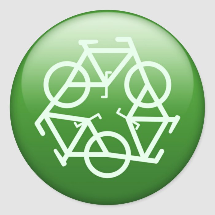 Re-Cycle Classic Round Sticker