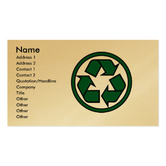 RE-cyclegreen Business Card