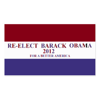 RE-ELECK BARAK OBAMA Double-Sided STANDARD BUSINESS CARDS (Pack OF 100)