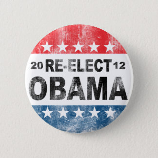 Re-Elect Barack Obama 2012 Button
