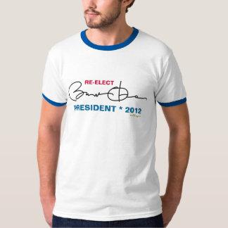 Re-Elect Barack Obama 2012 Ringer T-Shirt