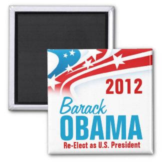 Re-Elect Barack Obama 2 Inch Square Magnet
