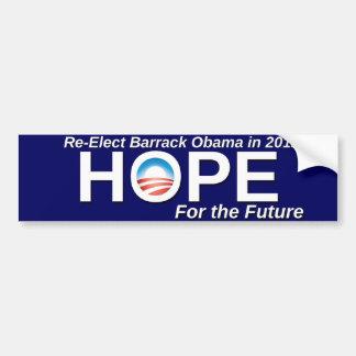 Re-Elect Barack Obama Car Bumper Sticker