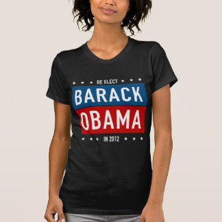 Re-elect Barack Obama in 2012 T-shirt