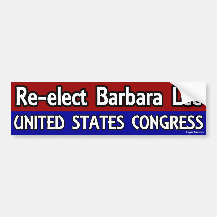 Re-Elect Barbara Lee to Congress Bumper Sticker