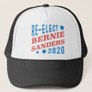 Re-Elect Bernie Sanders 2020 Tri-Color Fonts Trucker Hat