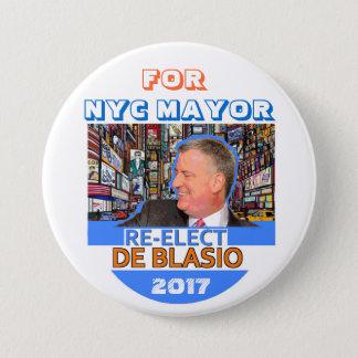 Re-elect Bill de Blasio Mayor in 2017 Button