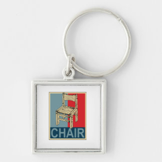 Re-Elect Chair 2012 Silver-Colored Square Keychain