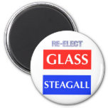 RE-ELECT Glass Steagall 2 Inch Round Magnet