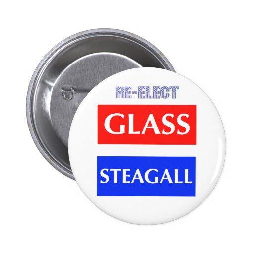 RE-ELECT Glass Steagall Pinback Button