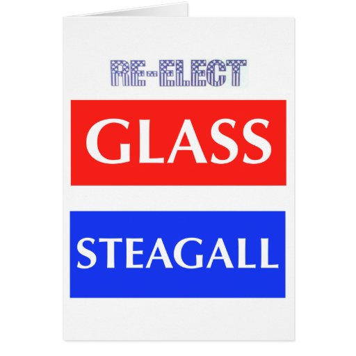 RE-ELECT Glass Steagall Cards