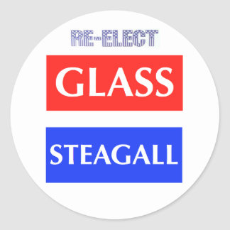 Re-Elect Glass Steagall Classic Round Sticker