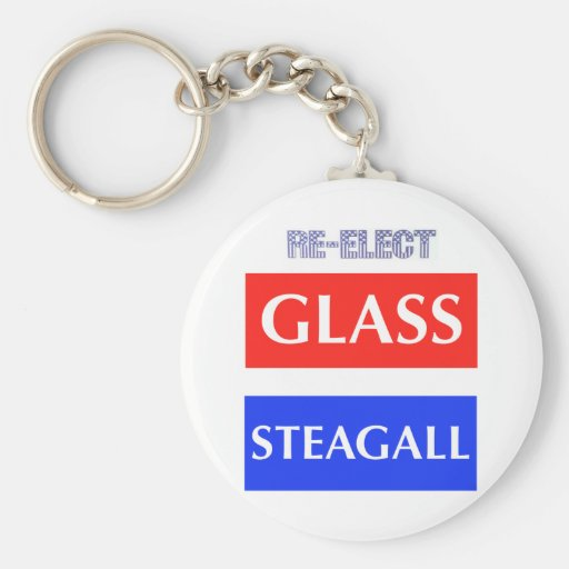RE-ELECT Glass Steagall Key Chains
