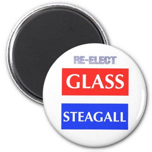 RE-ELECT Glass Steagall Fridge Magnet