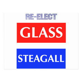RE-ELECT Glass Steagall Postcard