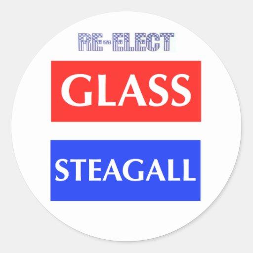 Re-Elect Glass Steagall Round Sticker
