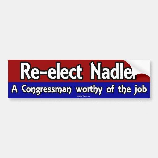 Re-elect Jerrold Nadler Bumper Stickers