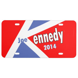 Re-elect Joe Kennedy to Congress in 2014 License Plate