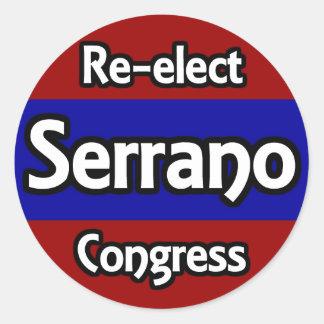 Re-elect Jose Serrano to Congress Classic Round Sticker
