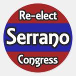Re-elect Jose Serrano to Congress Stickers