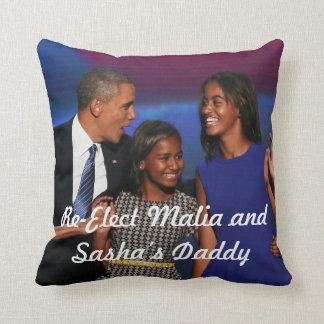Re-Elect Malia and Sasha's Daddy Pillow