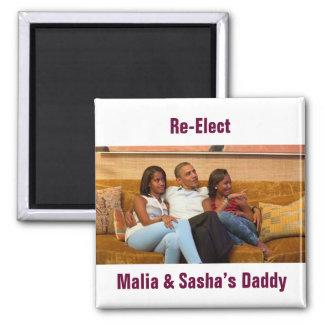 Re-Elect Malia & Sasha's Daddy Magnet