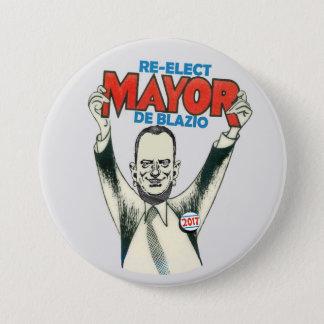 Re-Elect Mayor De Blazio in 2017 Button