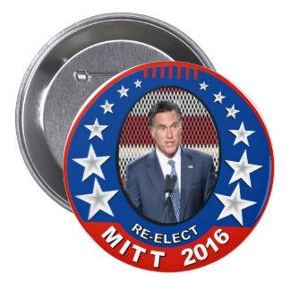 Re-Elect Mitt Romney 2016 3 Inch Round Button