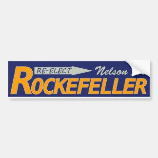 Re-Elect Nelson Rockefeller 1970 Bumper Sticker
