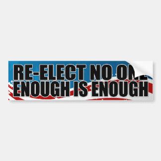 Re-elect No One 2012 Car Bumper Sticker