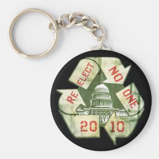 Re-Elect No One Anti-Incumbent Gear Keychain