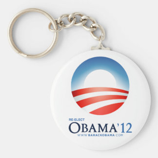 Re-Elect Obama 2012 Basic Round Button Keychain