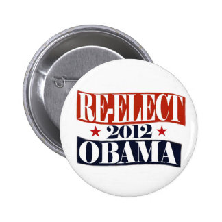 Re-Elect Obama 2012 Button