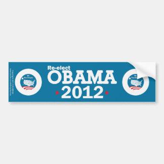 Re-elect Obama 2012 Car Bumper Sticker