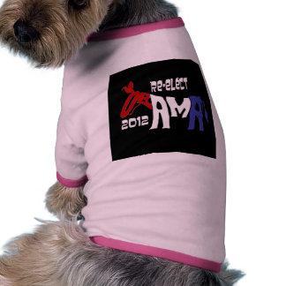 Re-Elect Obama 2012 Dog Shirt