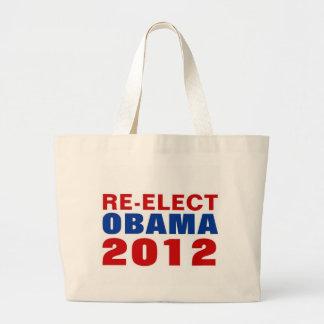RE-ELECT OBAMA 2012 LARGE TOTE BAG