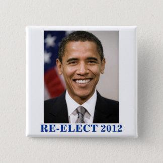 RE-ELECT OBAMA 2012 PINBACK BUTTON