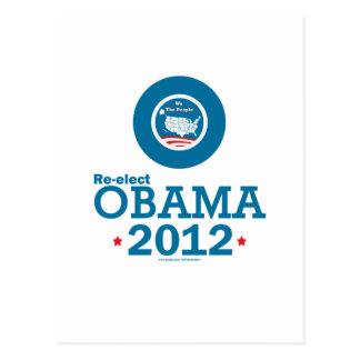 Re-elect Obama 2012 Postcards