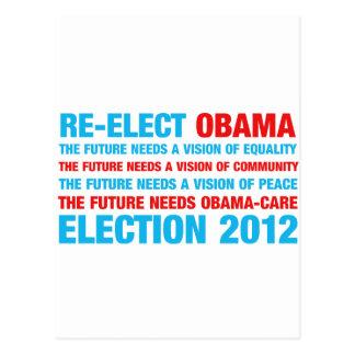 Re-Elect Obama 2012 Postcard