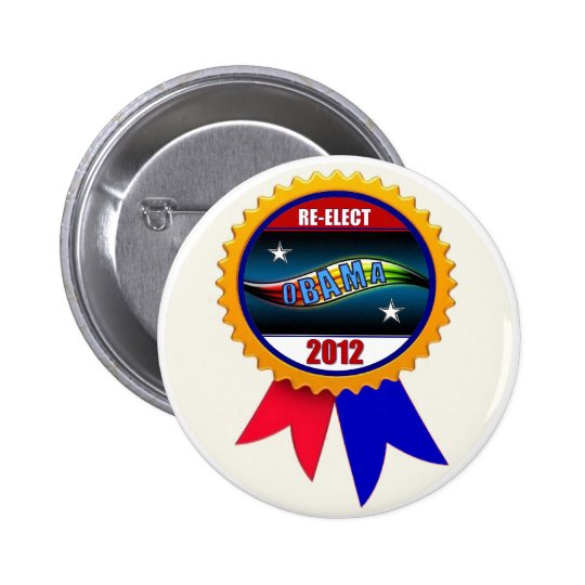 Re-Elect Obama 2012 Ribbon Button