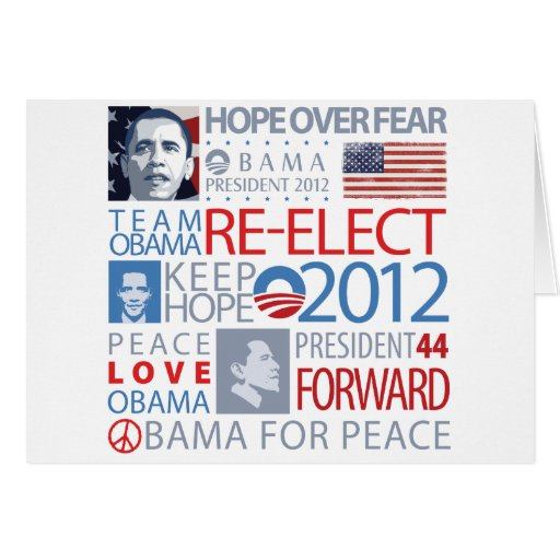 Re-elect Obama Greeting Card