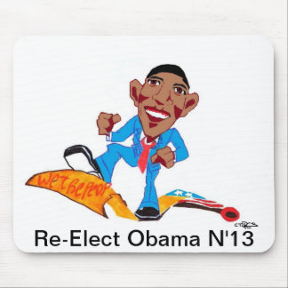 Re-Elect Obama N '13 Mouse Pad