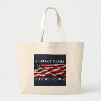 RE-ELECT OBAMA November 6 2012 Large Tote Bag