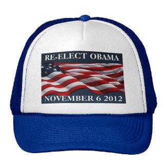 RE-ELECT OBAMA November 6 2012 Trucker Hat
