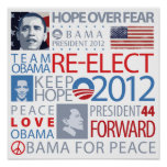 Re-elect Obama Poster