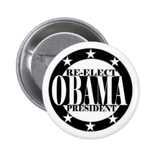Re-Elect Obama President Button