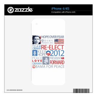 Re-elect Obama Decals For iPhone 4